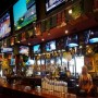 St. Pattys Day at the bar at Tilted Kilt